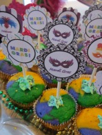 Mardi Gras Cupcake Toppers