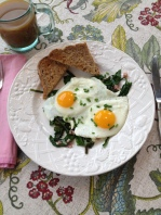 Dandelion Greens and Eggs